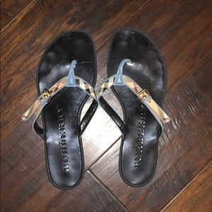 Burberry sandals size 37.  Barely worn!